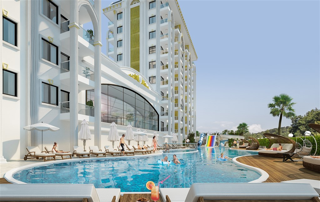 Luxury apartments in Alanya Turkey from the developer at a price below the market by 14%