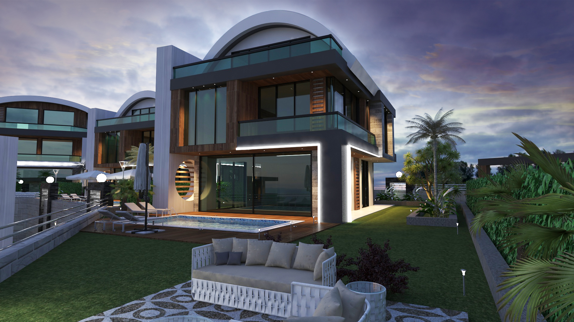 House in Alanya with sea views from the developer