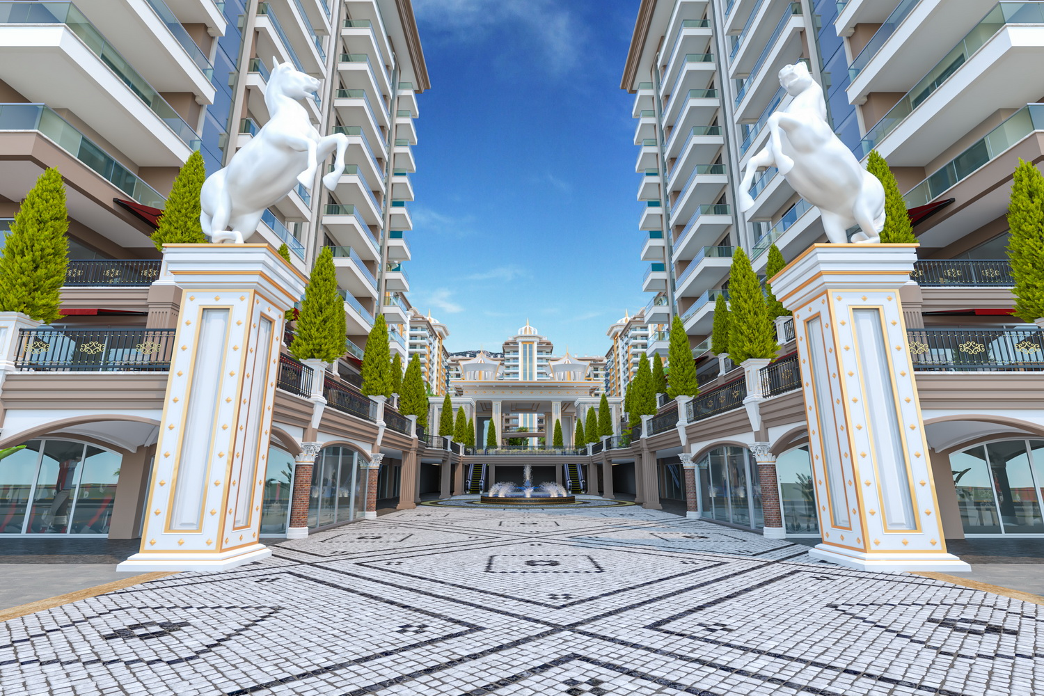 Apartments in a new luxury complex in the center of Mahmutlar