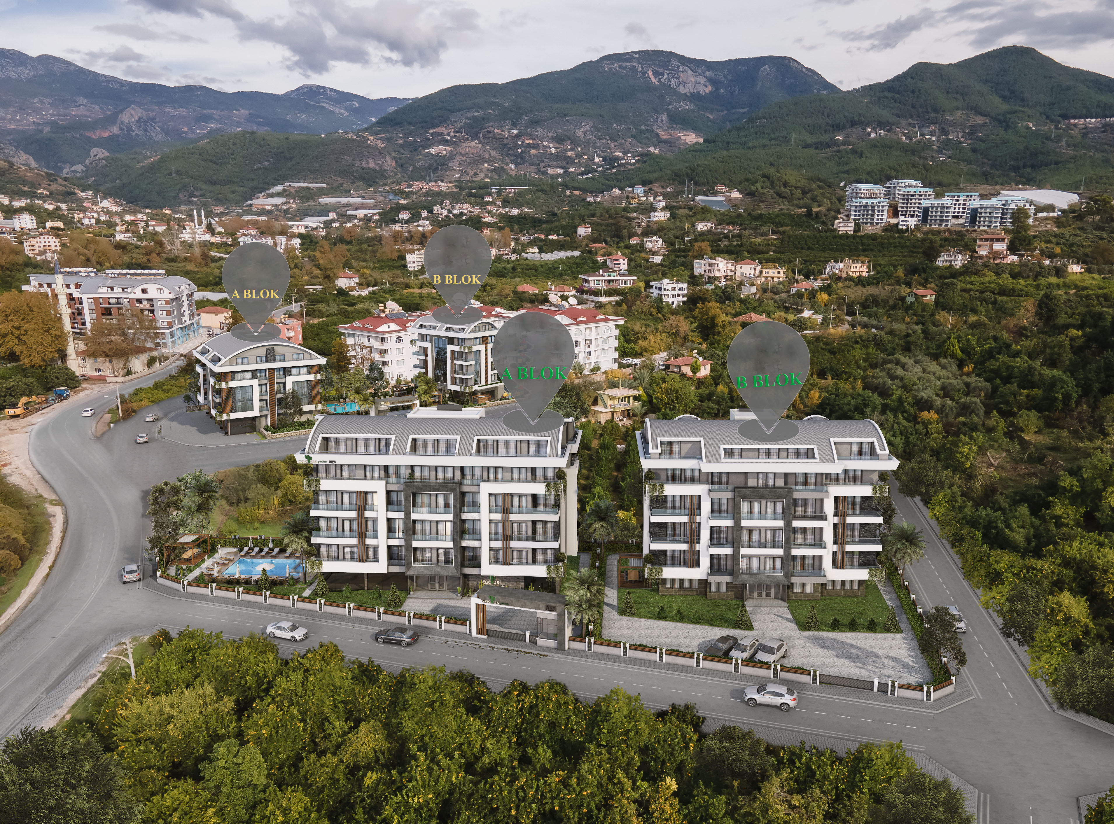 Apartments in Oba, Alanya under construction