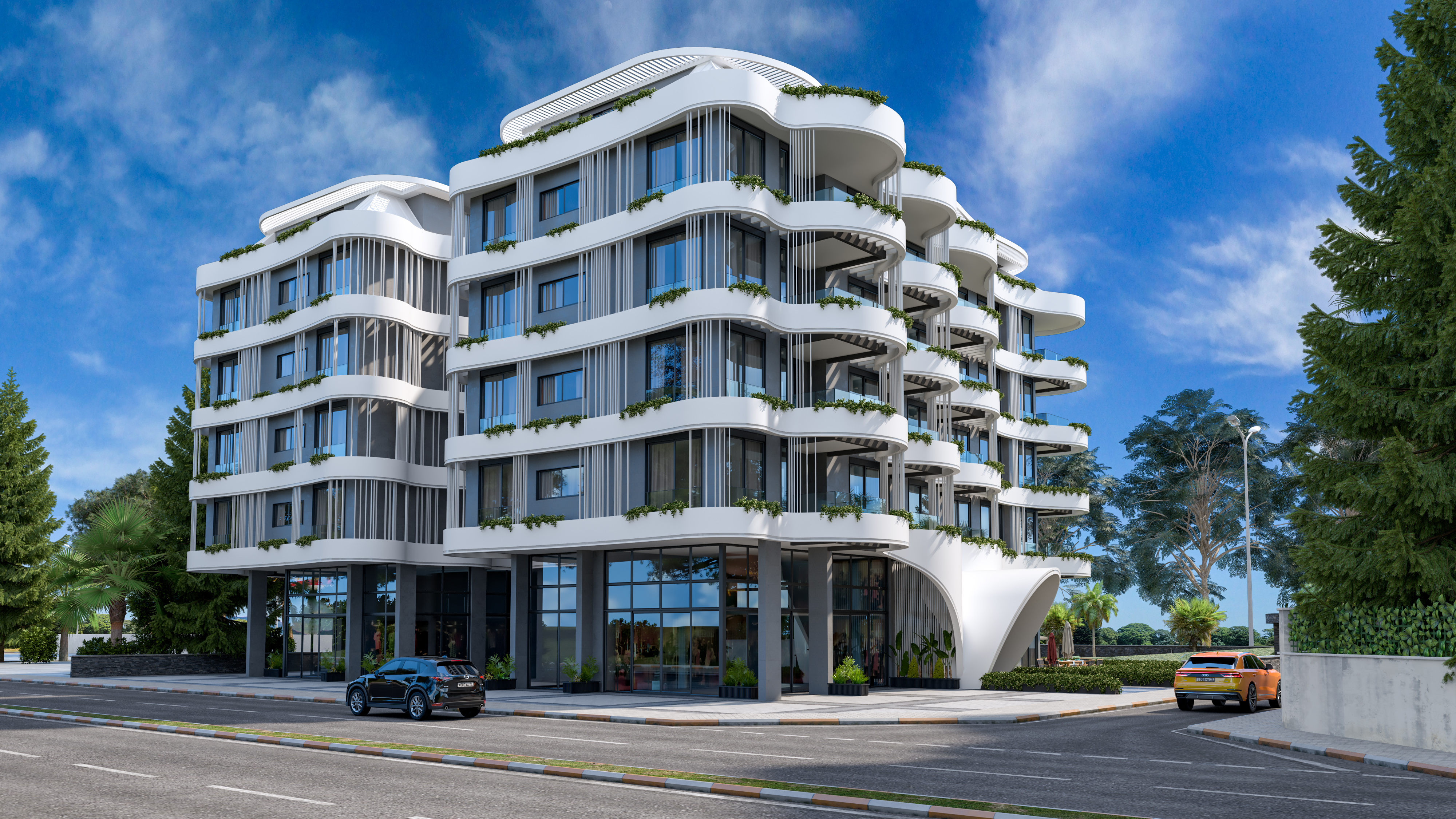 Premium class apartments on the first line from the sea