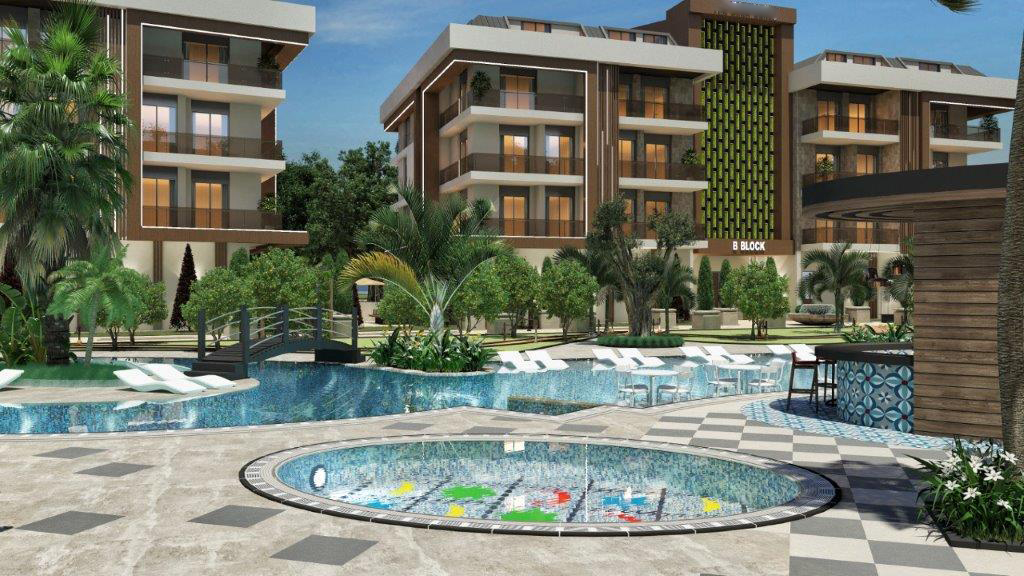 Luxurious apartments in Oba in Alanya from the developer