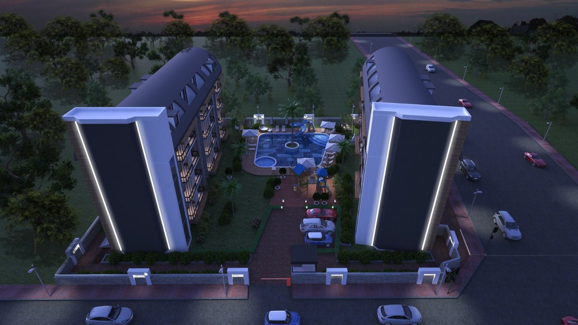 Apartment in Alanya Oba district under construction, mortgage 0%